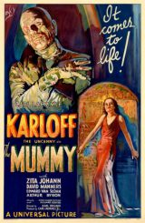 "Plakat des Films ""The Mummy"" (""Die Mumie"") mit Boris Karloff in der Hauptrolle. (Universal Pictures / Los Angeles Public Library)"