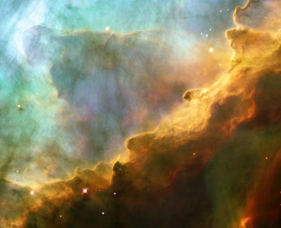 Detailaufnahme der oben gekennzeichneten Region. (European Space Agency, NASA, and J. Hester (Arizona State University))