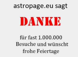 Die ersten Content-Seiten der astropage.eu sind online. Frohe Feiertage und guten Rutsch ins neue Jahr (astropage.eu)