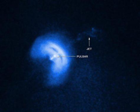 Eine Aufnahme des Vela-Pulsars und seines Partikeljets. (NASA / CXC / Univ of Toronto / M.Durant et al)
