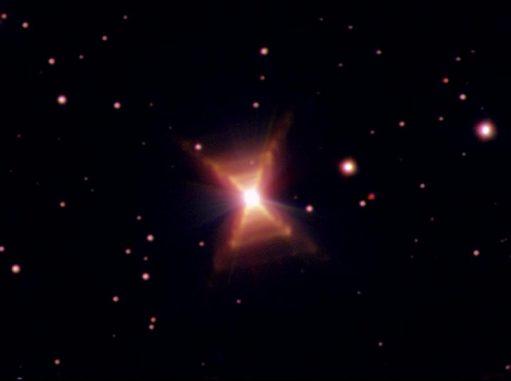 Der Rote Rechtecknebel HD 44179, aufgenommen vom Weltraumteleskop Hubble. (ESA, ESO and Hans van Winckel (Catholic University of Leuven, Belgium))