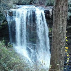 Ein Wasserfall im verjüngten Cullasaja River Flussbecken. (North Carolina State University)