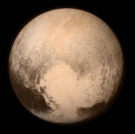Der Zwergplanet Pluto, aufgenommen von der Raumsonde New Horizons. (Credit: NASA / APL / SwRI)