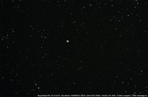 Ringnebel M57 im Sternbild Leier. (astropage.eu)