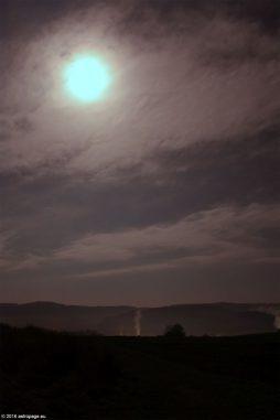 Fast-Vollmond am Abend des 13.11.2016. (astropage.eu)