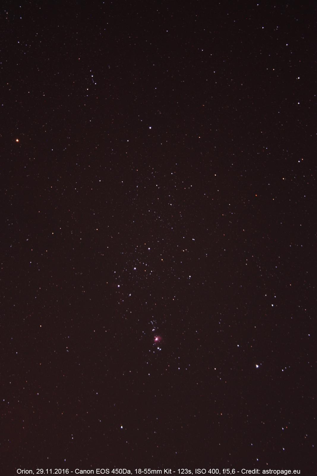 Orion vom 29.11.2016. (astropage.eu)