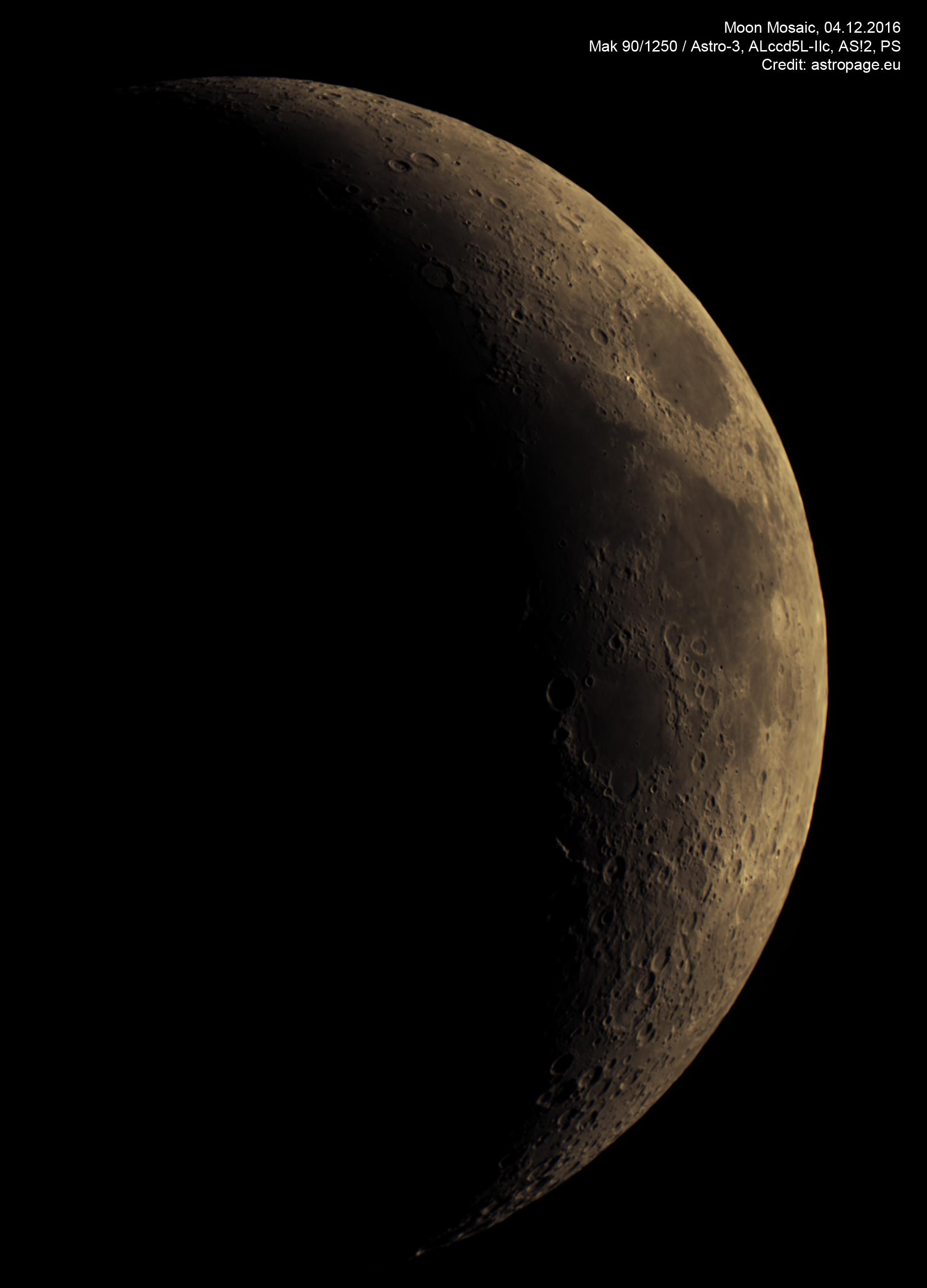 Mond-Mosaik vom 04.12.2016. (astropage.eu)