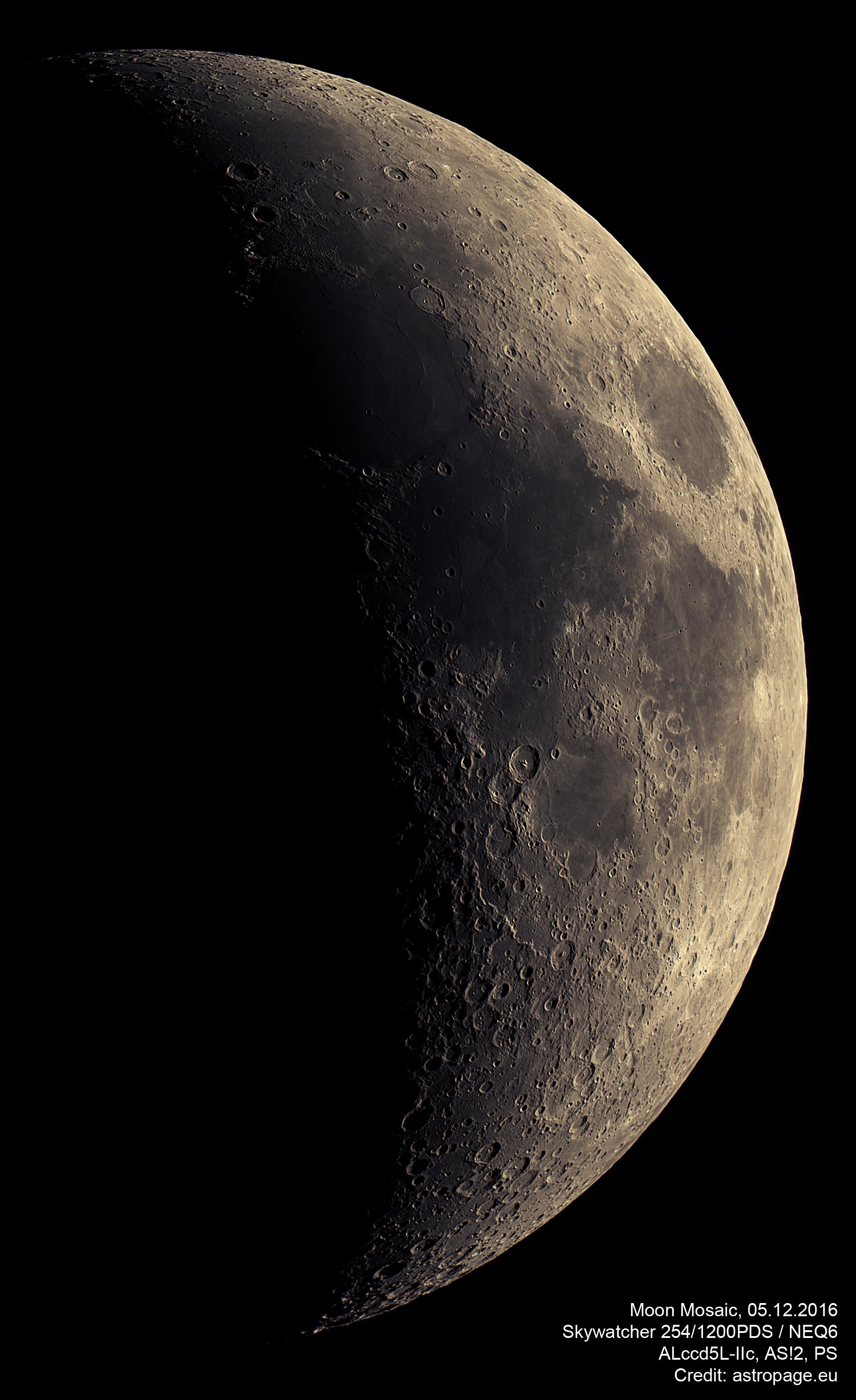 Mond-Mosaik vom 05.12.2016. (astropage.eu)