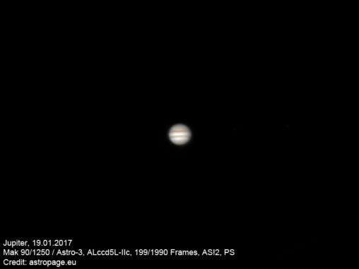 Jupiter vom 19.01.2017. (astropage.eu)