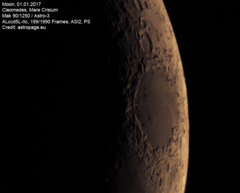Mond vom 01.01.2017. (astropage.eu)