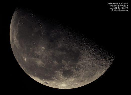 Mond-Mosaik vom 19.01.2017. (astropage.eu)