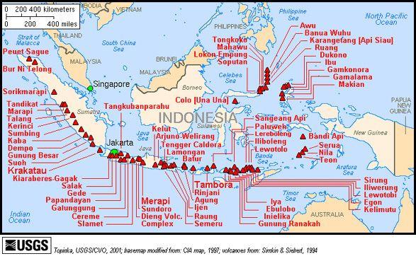 Vulkane in Indonesien (Credit: USGS)