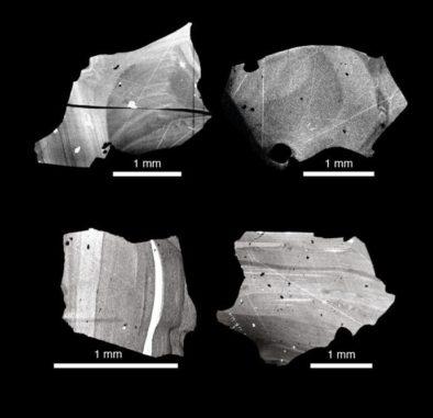 Quarzkristalle von der Eruption des Supervulkans Toba vor 73.000 Jahren zeigen ein anderes Isotopenverhältnis in ihren Randbereichen. (Image courtesy of Uppsala Universitet / CC BY-ND 3.0)