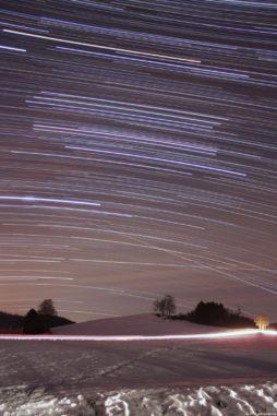 Sternstrichspuren vom 26.01.2017. (astropage.eu)