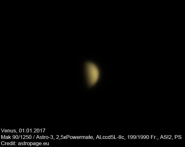 Venus vom 01.01.2017. (astropage.eu)