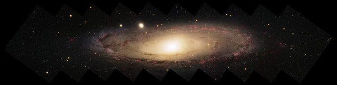 Die Andromeda-Galaxie ist eine Spiralgalaxie wie unsere Milchstraßen-Galaxie. (Credit: NOAO and the Local Group Survey Team and T.A. Rector; University of Alaska Anchorage)