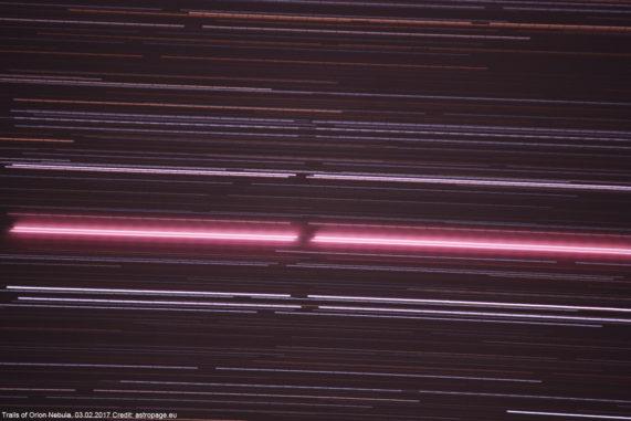 Orion-Spuren, 03.02.2017. (astropage.eu)