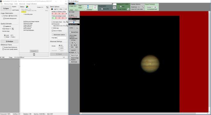 Öffnen des Videos in Autostakkert. (Screenshot: astropage.eu)