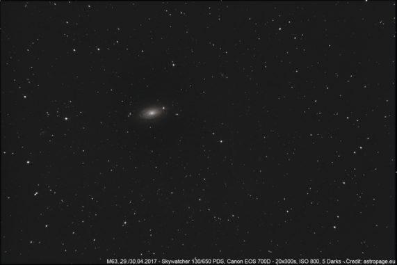 Die Galaxie M63. (Credit: astropage.eu)