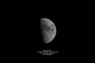 Mond vom 4. April 2017. (Credit: astropage.eu)