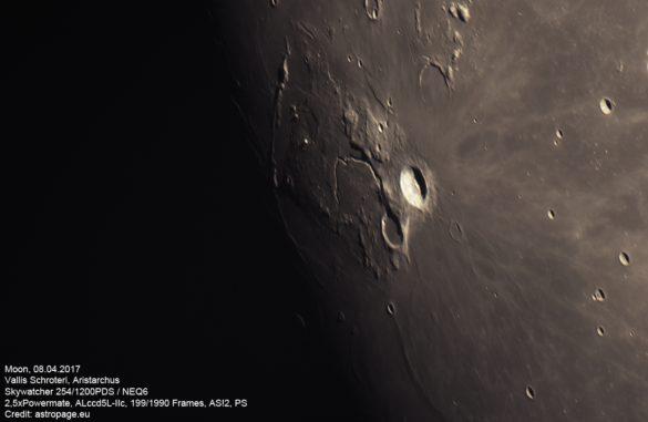 Mond vom 8. April 2017. (Credit: astropage.eu)