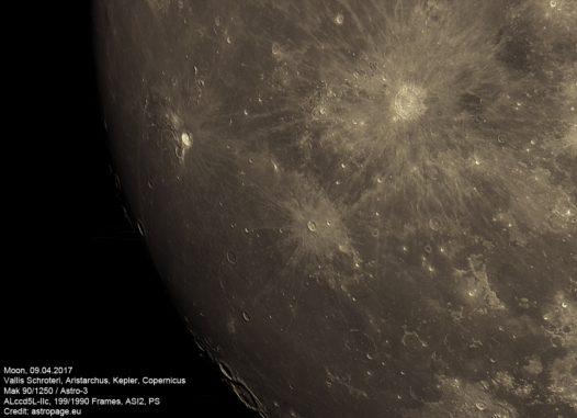 Mond vom 9. April 2017. (Credit: astropage.eu)