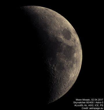 Mond vom 2. April 2017. (astropage.eu)