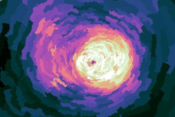 Auch dieses Bild zeigt einen größeren Ausschnitt als das Kompositbild - circa 550.000 Lichtjahre von Seite zu Seite. Hier bei kam eine andere Verarbeitungstechnik zum Einsatz. (Credit: NASA / CXC / MPE / J.Sanders et al.)