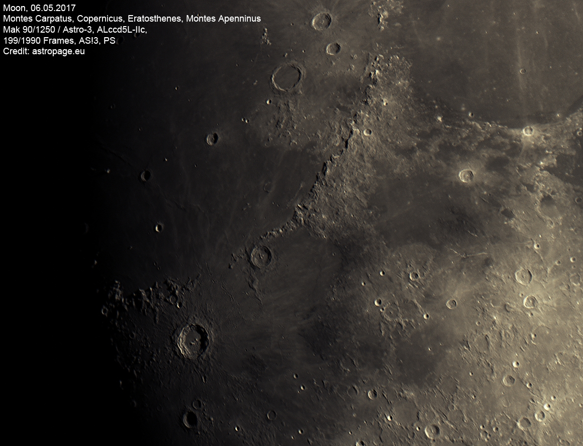 Mondlandschaft vom 6. Mai 2017. (Credit: astropage.eu)
