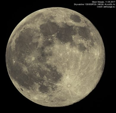Mond vom 11. Mai 2017. (Credit: astropage.eu)