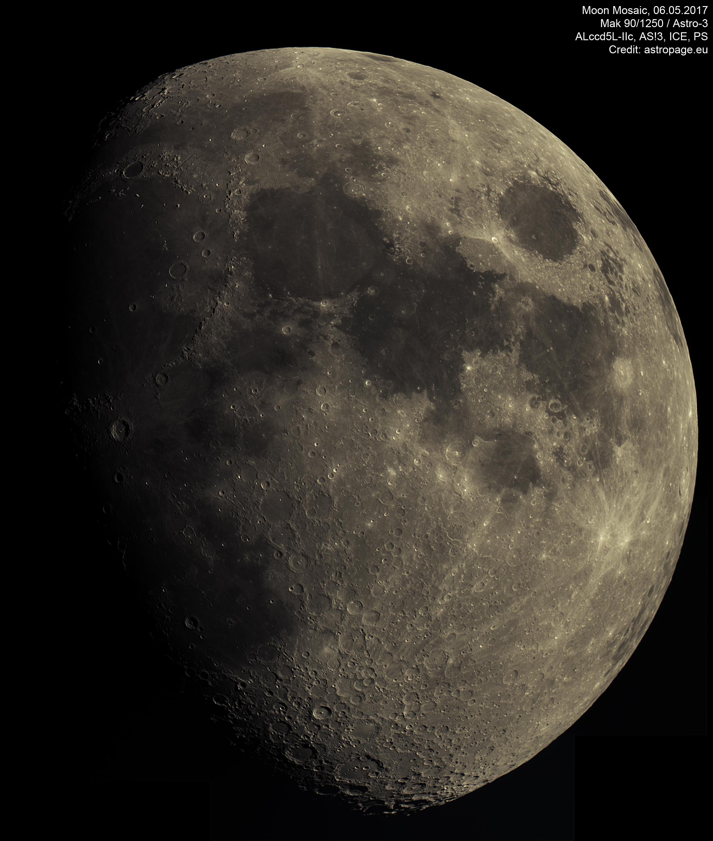 Mond Mosaik vom 6. Mai 2017. (Credit: astropage.eu)