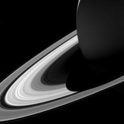 Die Saturnringe, aufgenommen von der Raumsonde Cassini. (Credit: NASA / JPL-Caltech / Space Science Institute)