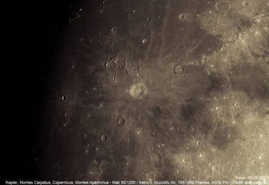 Mond vom 5. Juni 2017. (Credit: astropage.eu)