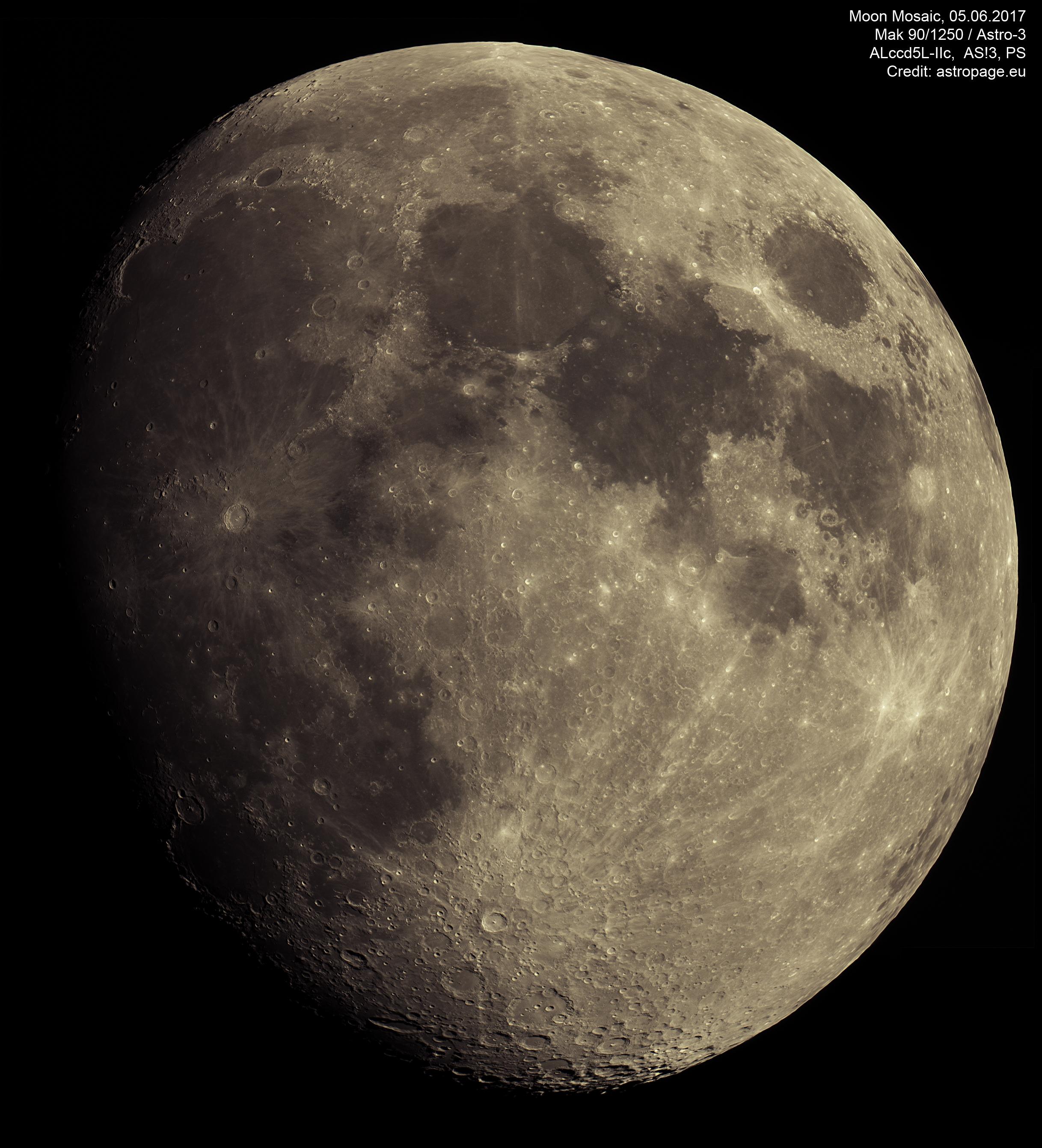 Mond-Mosaik vom 5. Juni 2017. (Credit: astropage.eu)