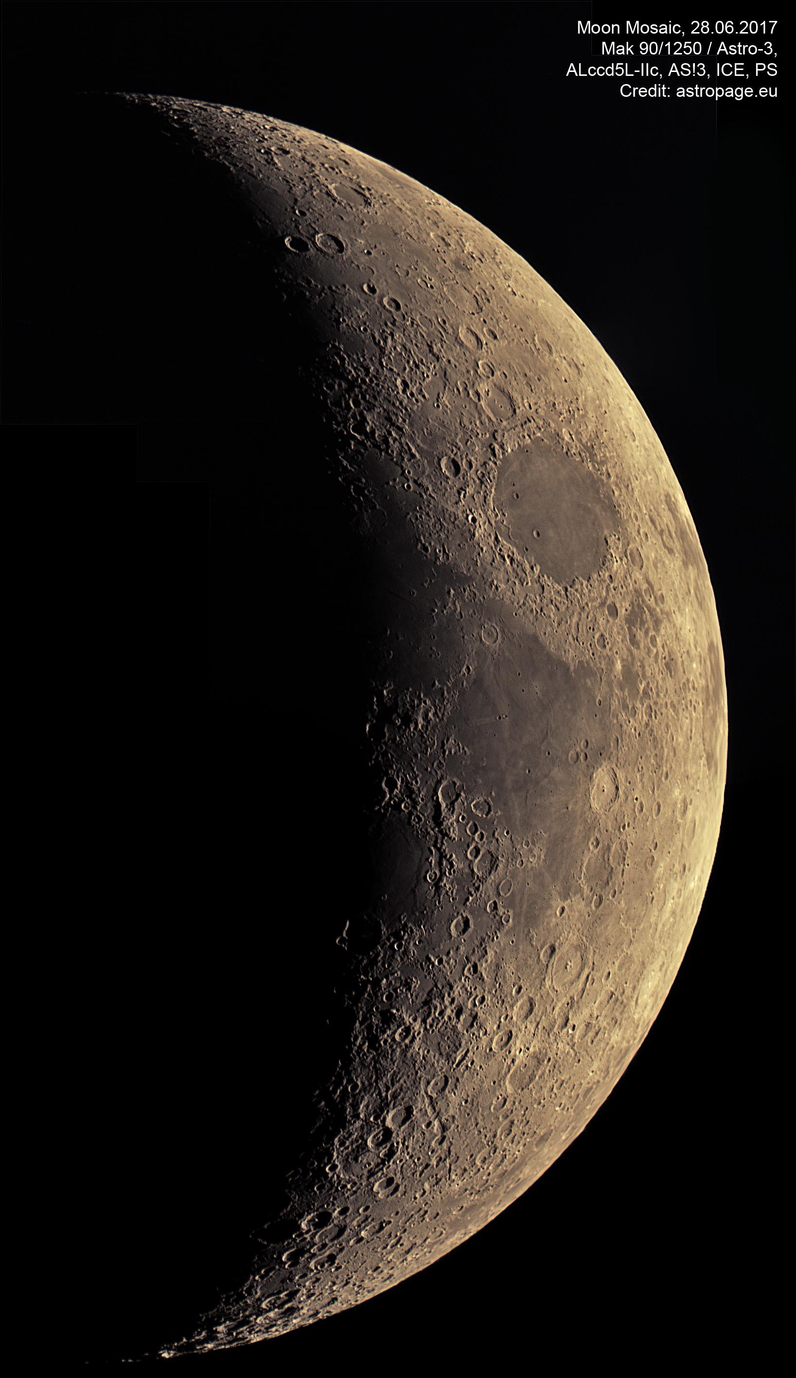 Mondmosaik vom 28. Juni 2017. (Credit: astropage.eu)