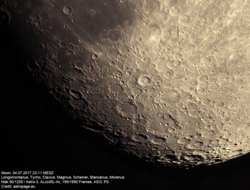 Mond vom 4. Juli 2017. (Credit: astropage.eu)