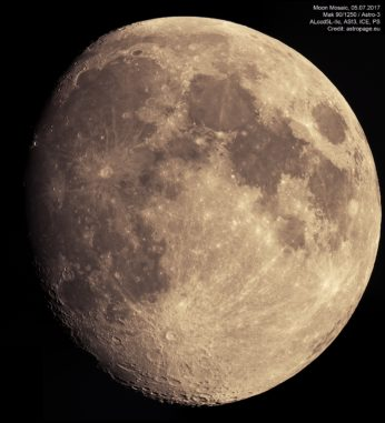 Mond Mosaik, 5. Juli 2017 (Credit: astropage.eu)