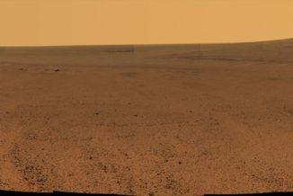Bildausschnitt aus dem Panorama des Perseverance Valley. (Credits: NASA / JPL-Caltech / Cornell / Arizona State Univ.)
