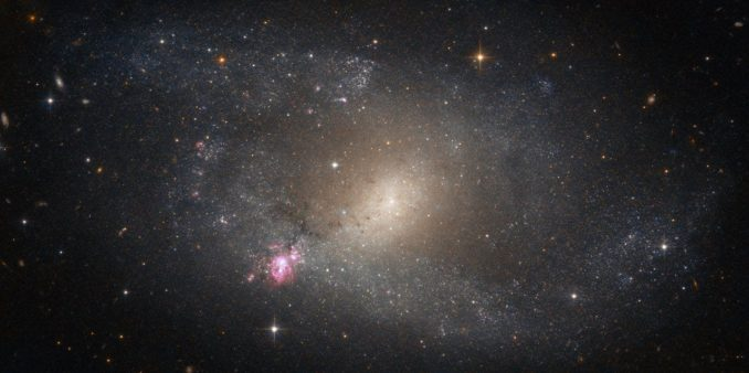 Die Galaxie NGC 5398, aufgenommen vom Weltraumteleskop Hubble. (Credit: ESA / Hubble & NASA)