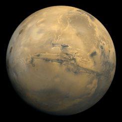 Der Mars. (Credits: NASA / Viking)