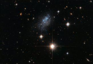 ESO 376-16, aufgenommen vom Weltraumteleskop Hubble. (Credit: ESA / Hubble & NASA)