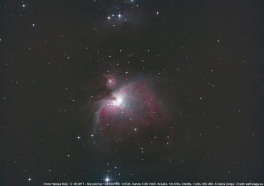 Der Orionnebel M42. (Credit: astropage.eu)
