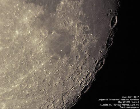 Mond vom 6. November 2017. (Credit: astropage.eu)