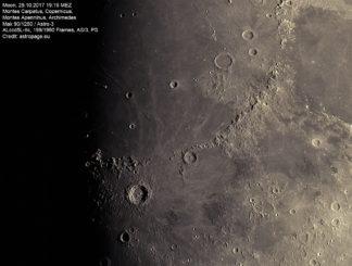 Mond vom 29. Oktober 2017. (Credit: astropage.eu)