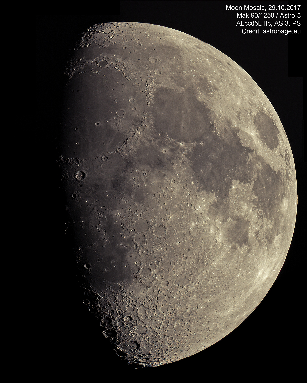 Mond-Mosaik vom 29. Oktober 2017. (Credit: astropage.eu)