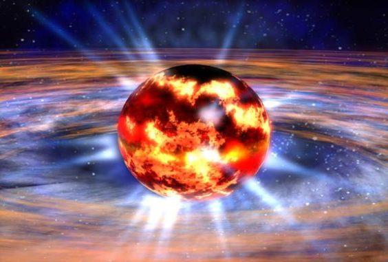 Künstlerische Darstellung eines Neutronensterns. (Credits: NASA / Dana Berry)