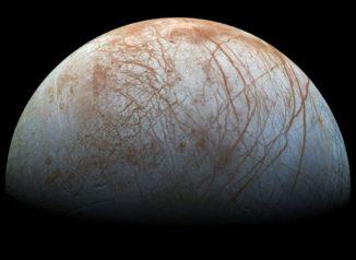 Der Jupitermond Europa, aufgenommen von der NASA-Raumsonde Galileo. (Credits: NASA / JPL-Caltech / SETI Institute)