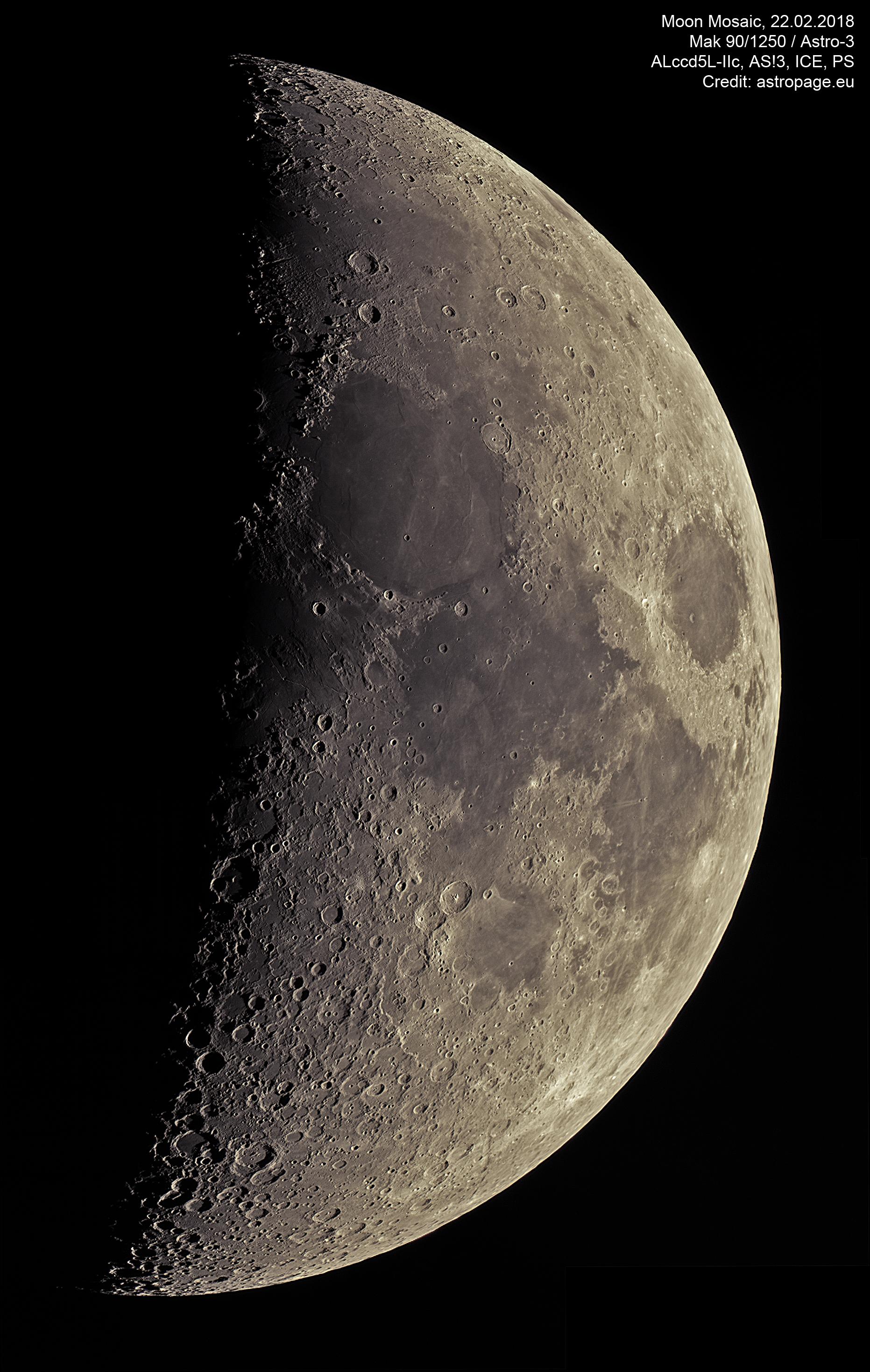 Mond-Mosaik vom 22. Februar 2018. (Credit: astropage.eu)