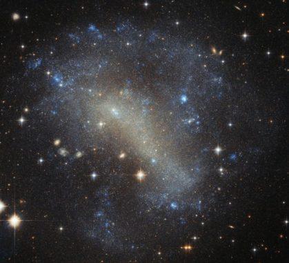 Hubble-Aufnahme der irregulären Zwerggalaxie IC 4710. (Credits: ESA / Hubble & NASA; Acknowledgements: Judy Schmidt)