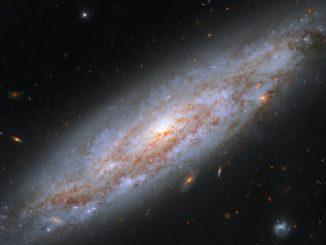 Hubble-Aufnahme der Spiralgalaxie NGC 3972. (Credits: NASA, ESA, A. Riess (STScI / JHU))